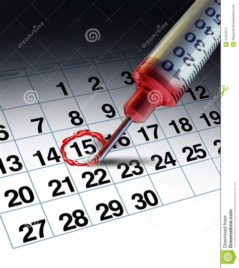Clinical Calendar Appointment Stock Illustration Image 57554571