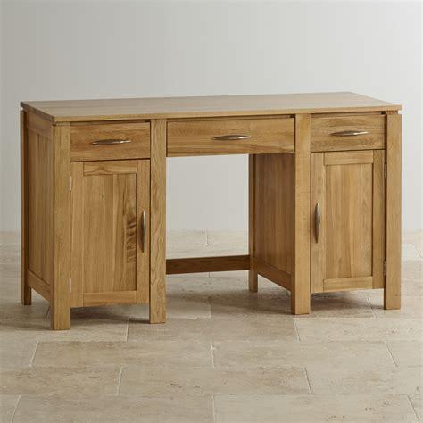 large solid oak desk galway large computer desk in solid oak oak furniture land