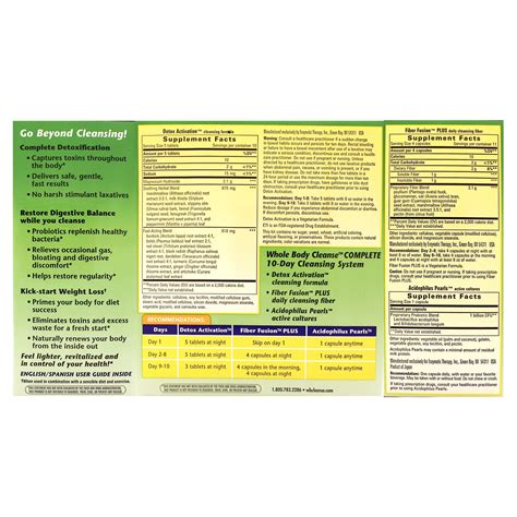 Heal Your Whole Detox Plan by Whole Cleanse 1 Kit Health Store Vitamins