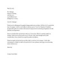 rejection letter template sle rejection letter 3