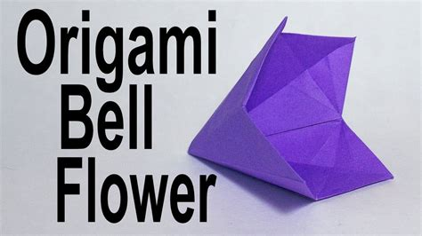 Origami Bell Flower - origami bell flower tutorial traditional