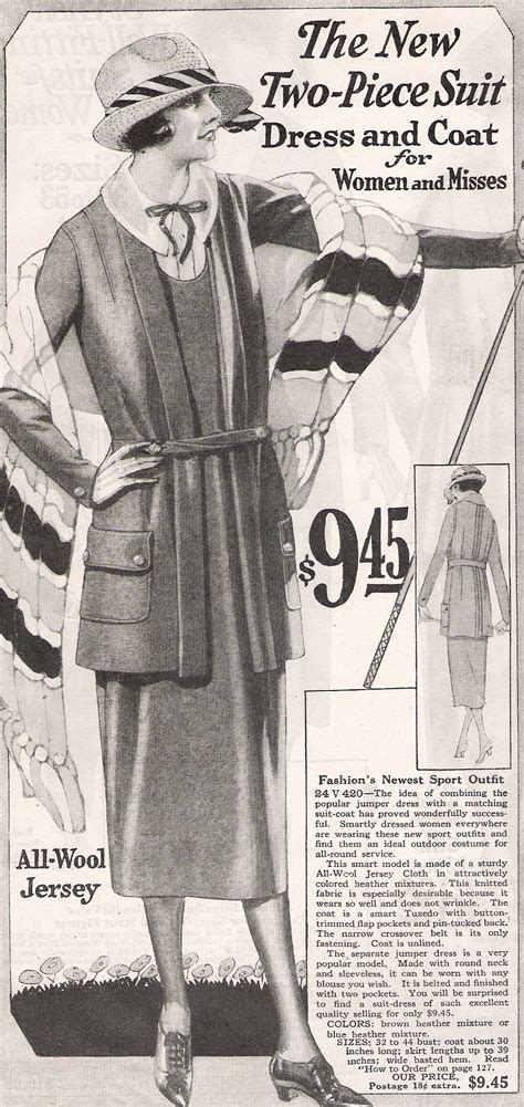 what did women amp men wear in the 1920s