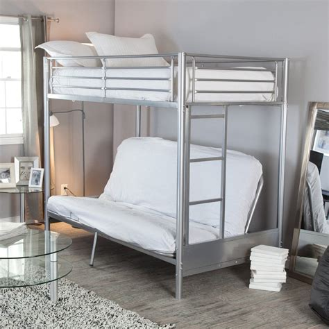 bunk bed frame with futon metal bunk beds with futon frame roof fence futons