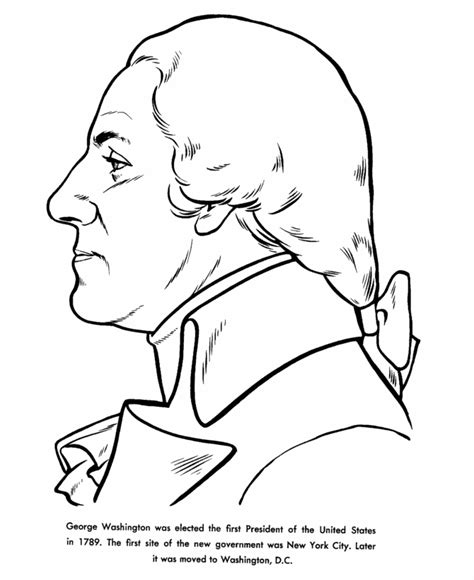 about george washington coloring sheet kindergarten