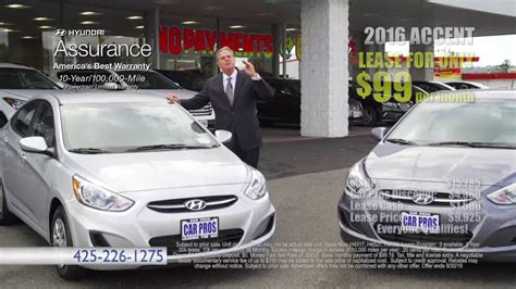 Car Pros Hyundai Renton by Car Pros Hyundai Renton 2016 Hyundai Accent 99 Month