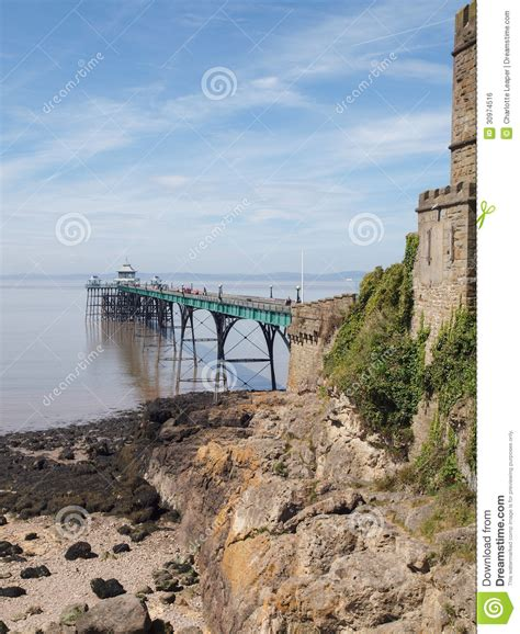 Coastal House Plans Clevedon Pier Amp Toll House Somerset England Stock Photo