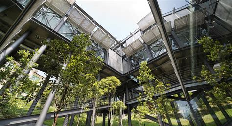 cantilever house green roofed cantilever house floats above the malaysian