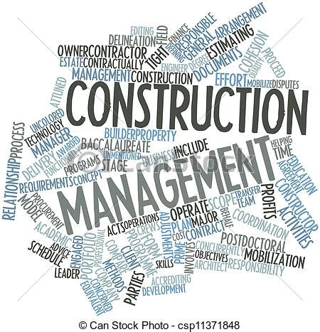 Can I Get A Mba With Construction Management by Drawing Of Construction Management Abstract Word Cloud
