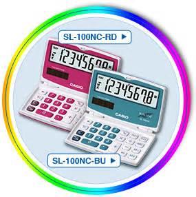 Kalkulator Casio Ms 20uc trendy colours consumer calculators products casio
