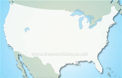 blank physical map of usa united states blank map by freeworldmaps net