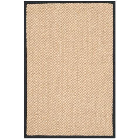 5 ft rugs safavieh fiber maize black 3 ft x 5 ft area rug nf141a 3 the home depot