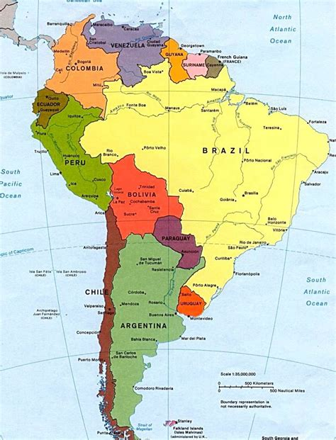 south america map and capitals south america capitals www imgkid the image kid