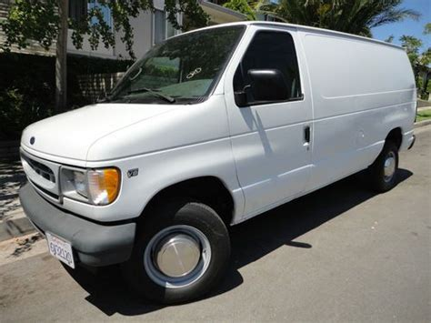 automobile air conditioning service 2001 ford econoline e250 seat position control find used 2001 ford e250 cargo van 108k sliding side door new tires no reserve in