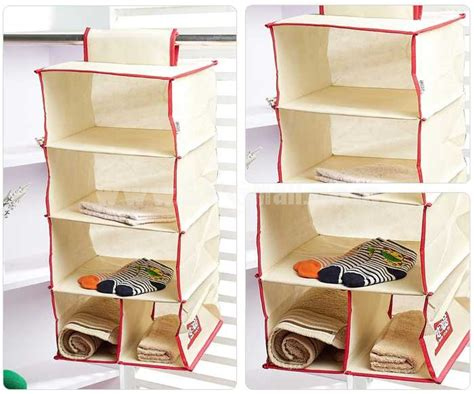 Cloth Closet Organizers by Simple Pattern Non Woven Fabric Hanging Closet Organizers