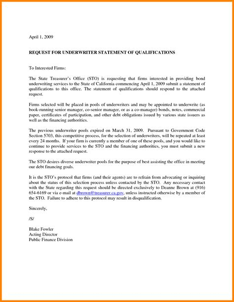 10 statement of qualifications sample letter case