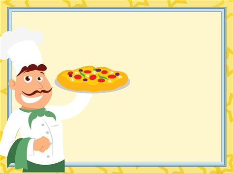 Master Of Pizza Powerpoint Templates Food Drink Yellow Free Ppt Backgrounds And Templates Food Background For Powerpoint