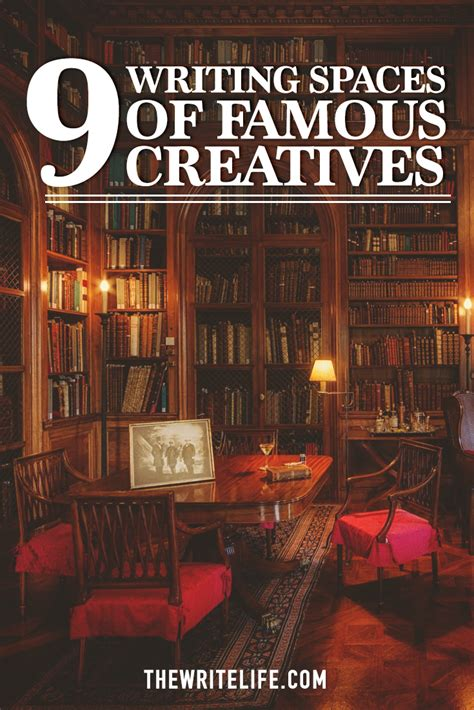 writing spaces where 9 famous creatives do their best work