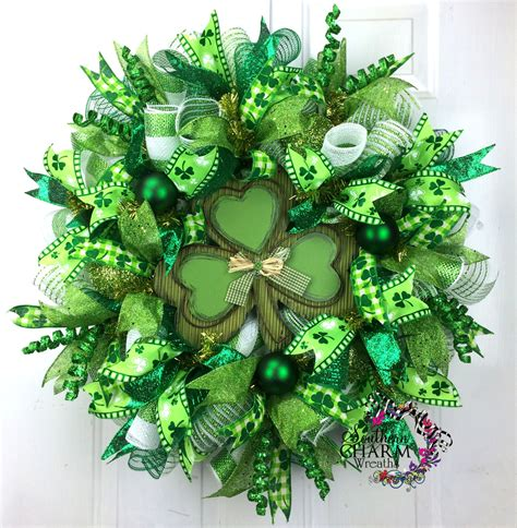 shamrock decorations home deco mesh st patricks day wreath st patrick s day decor