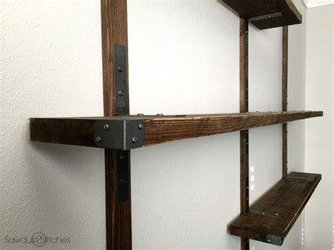 industrial style shelving strong tie wall mounted shelves sawdust 2 stitches