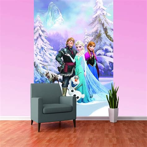 bedroom murals uk disney frozen anna elsa olaf sven bedroom mural wallpaper