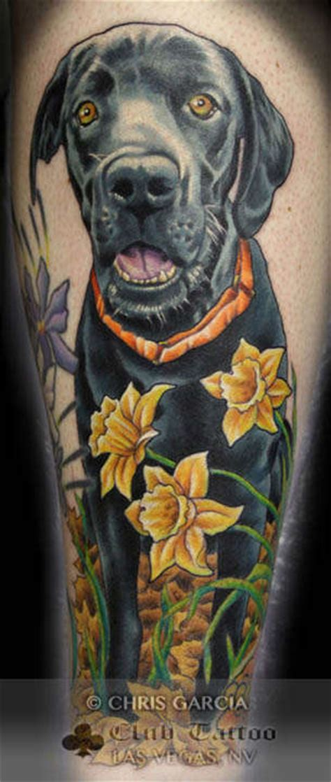 black lab portrait flowers pet dog