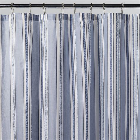 White And Blue Striped Curtains Navy Blue And White Curtains Cj114 143 White Navy Blue Stripe Shiny Taffeta Curtain X 1 Panel
