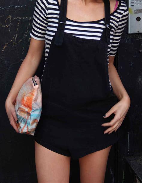 Overall Stripe Black black overalls and stripes on casey shteamer of