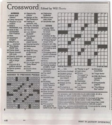 printable sudoku new york times daily crossword