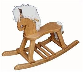 Wood Barn Toy Oak Wood Rocking Horse