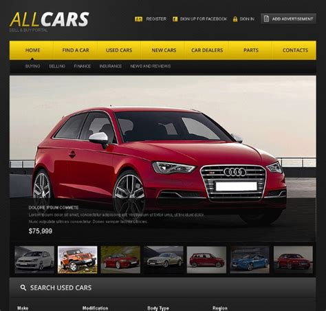 25 Car Dealer Website Themes Templates Free Premium Templates Car Dealer Website Template