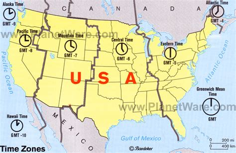 usa map zone time how many time zones usa