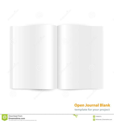 blank magazine spread template open magazine page spread with blank pages stock vector image 70382374