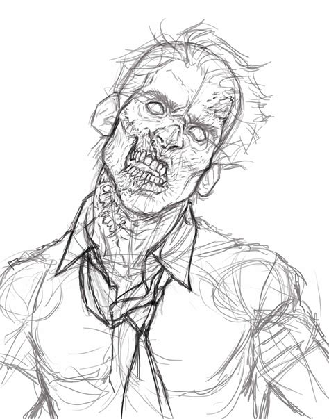 Zombie Sketch Tutorial   johnny s digital painting tutorial zombie self portrait