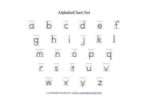 4 best images of printable lowercase alphabet letters
