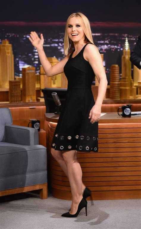 Get Look Kristen Bells Behnaz Sarafpour Dress 2 by Kristen Bell Black Dress Kristen Bell Looks