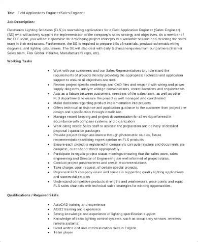 Description Application Engineer by Application Engineer Description Sle 7 Exles
