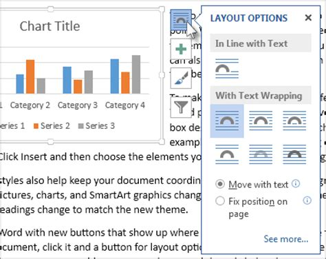 word layout options move a chart word