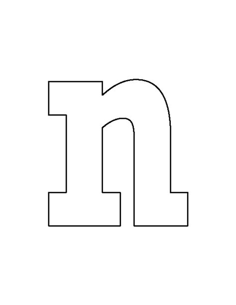 letter n template lowercase letter n pattern use the printable outline for