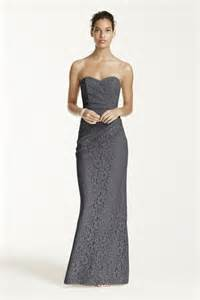 Bridal long strapless lace dress with sweetheart neckline style w10329