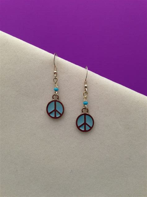 cool beaded jewelry peace earrings unique beaded jewelry by nancy