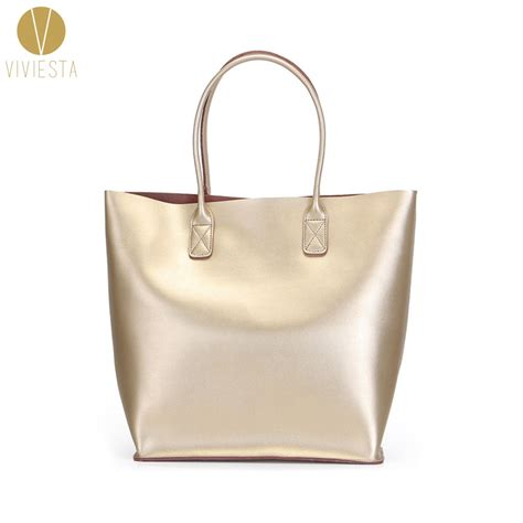 Sale Foil Angka Big Size Silver Gold aliexpress buy genuine leather metallic large tote 2017 s fashion trendy silver gold
