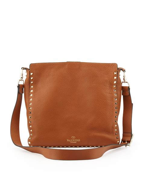 10 Valentino Bags lyst valentino rockstud medium flip lock hobo bag in brown