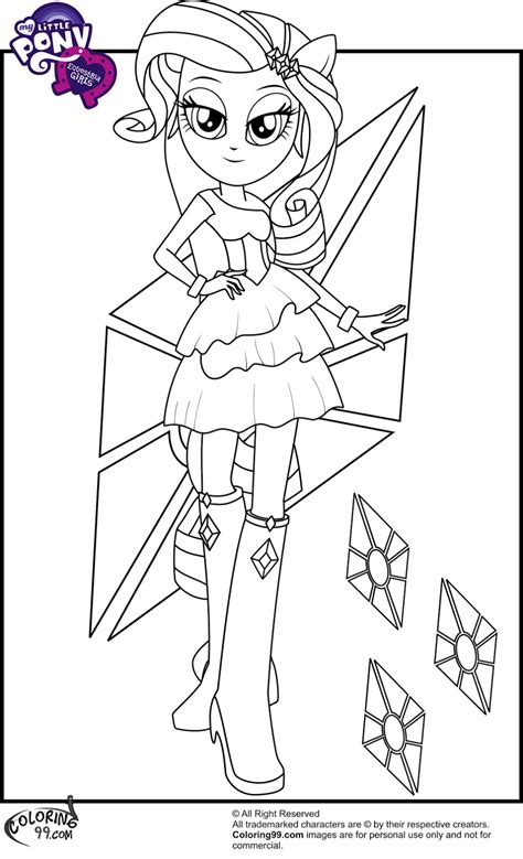 free coloring pages of equestria girls