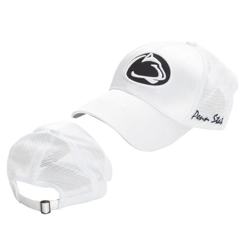penn state womens white hat satin nittany lions psu