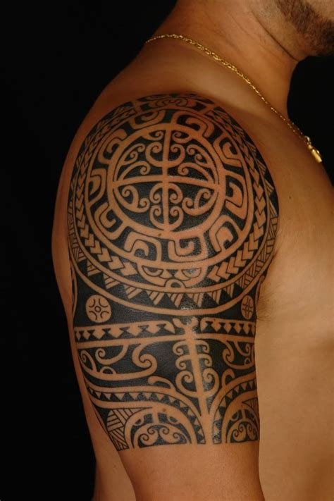 polynesian quarter sleeve tattoo designs 70 awesome polynesian tattoos for men and women