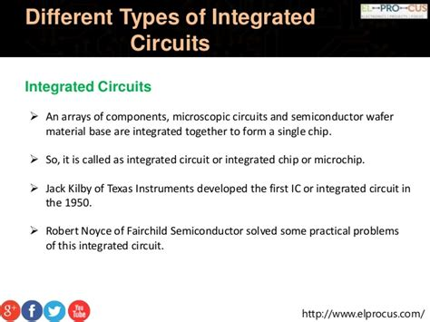 what are types of integrated circuits about different types of integrated circuits