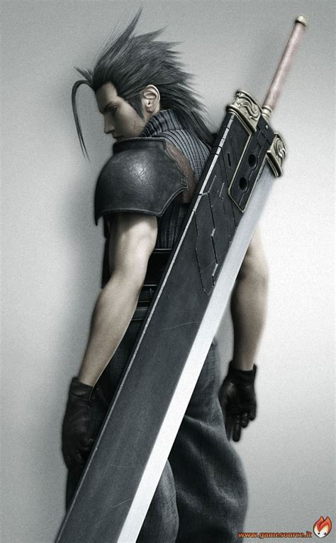 zack fair final fantasy vii crisis core play arts action figure the great challenge of wearing a buster sword cosplay com