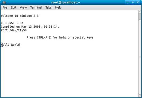 tutorial minicom linux minicom in linux embeddedcraft