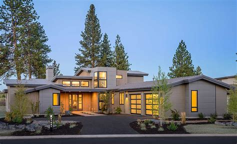contemporary mountain home plans plan 54202hu light filled mountain modern house plan