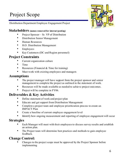 project management statement of work template employee engagement project statement of work